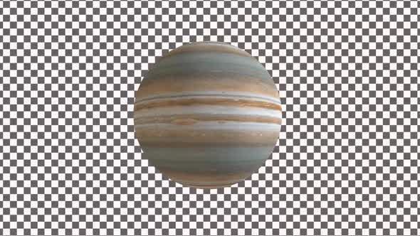 Thumbnail for Planet Jupiter With Alpha 4K V1
