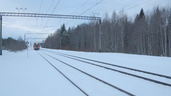 Thumbnail for Train Passing in Winter