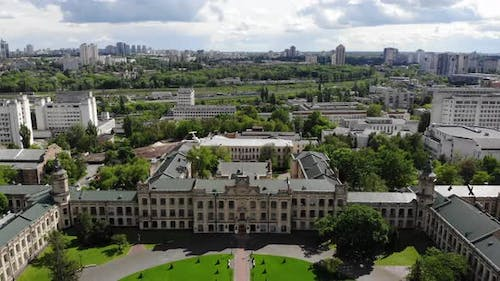 Cityscape Old University Aerial