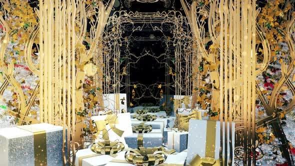 Christmas Art Nouveau Gift Box 04 HD