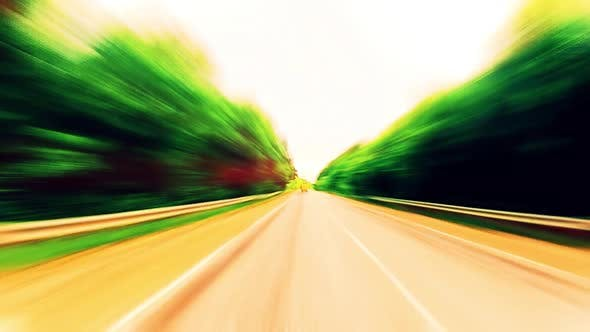 Cover Image for Ride on A Car. Fast Abstract Background