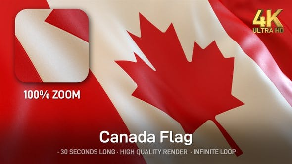 Thumbnail for Canada Flag - 4K