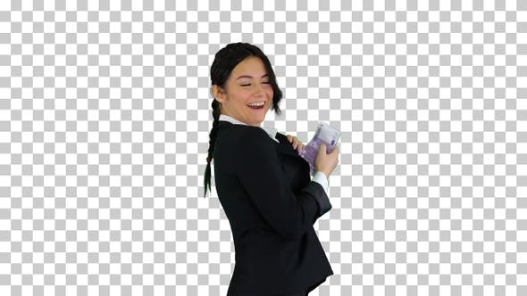 Thumbnail for Confident and happy young businesswoman, Alpha Channel