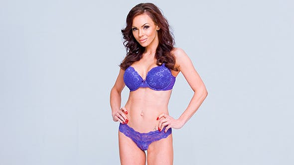 Thumbnail for Sexy Woman in Violet Lingerie
