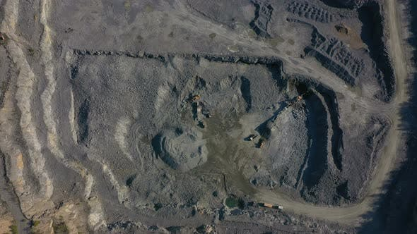 Aerial View Of Opencast Mining Quarry 4