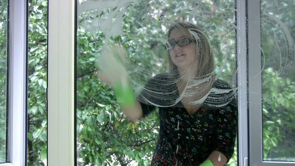 Thumbnail for Girl Washing Window