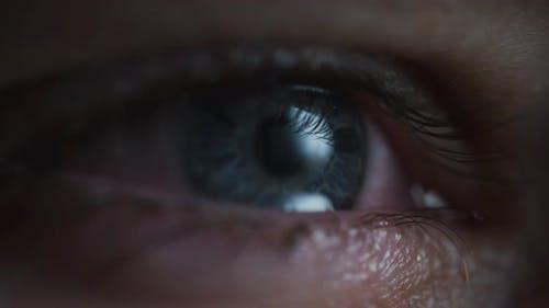 Eye with tears