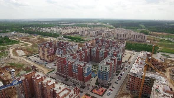 Thumbnail for Flying Over Housing Complex with New Built and Unfinished Buildings, Russia
