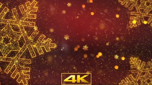 Thumbnail for Weihnachten Crystal Snow Hintergrund 1