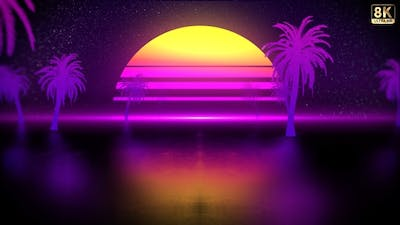 Summer Retro Background 8K