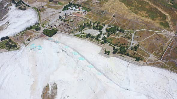 Thumbnail for Top Aerial View of Pamukkale in Turkey Aka Cotton Castle
