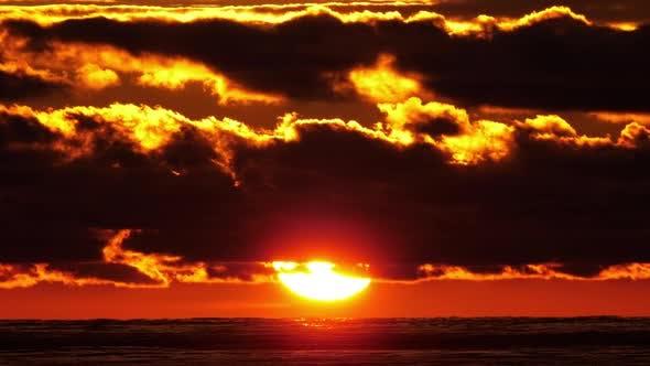 Scenic View Setting Sun