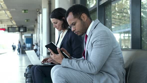 Thumbnail for Business Colleagues with Digital Devices