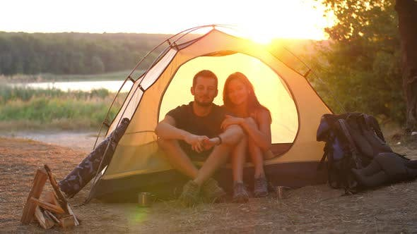 Travelers in a Tent