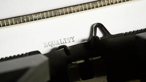 Typing the Word Equality