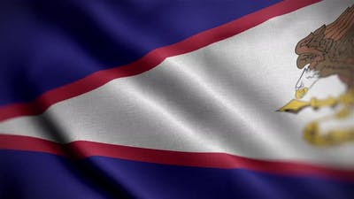 America Samoa Flag Angle