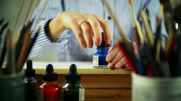 Artist Opening Ink
