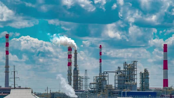 Thumbnail for Petrochemical Plant with Blue Sky