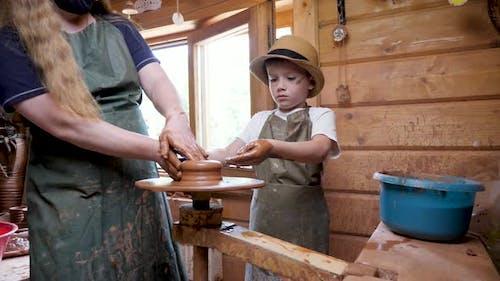 Workshop Clay Sculpting Child Learn Craft Kid Art Education