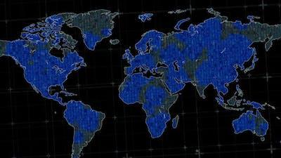 Global Hacking. World Map