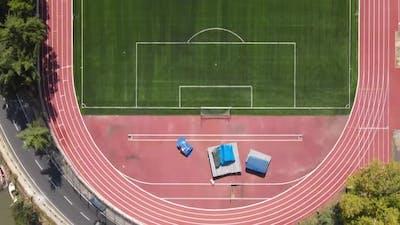 Soccer Field in a Public Park
