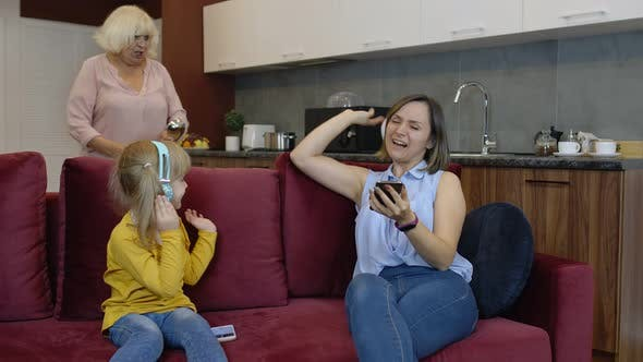 Thumbnail for Daughter Turned Back Not Listening Ignoring Stressed Old Senior Mother Arguing Scolding Lecturing