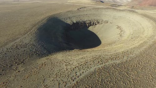 Sinkhole Pit Resulting From Collapse in Plain