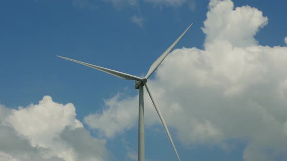 Thumbnail for Wind Turbine in Blue Sky