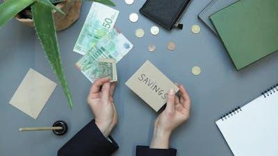 Saving and dollar bill