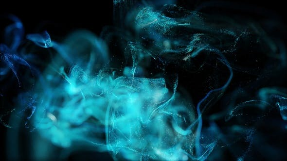 Thumbnail for Glühende Partikel Fluid Hintergrundschleife