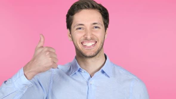 Thumbnail for Daumen nach unten auf rosa Hintergrund