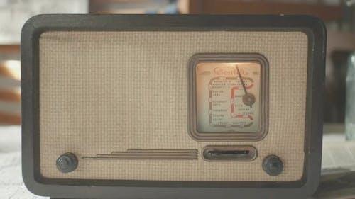 Vintage Radio On Table