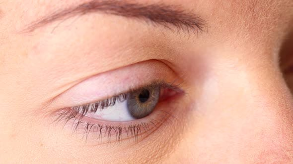 Thumbnail for Close up of young woman's eye
