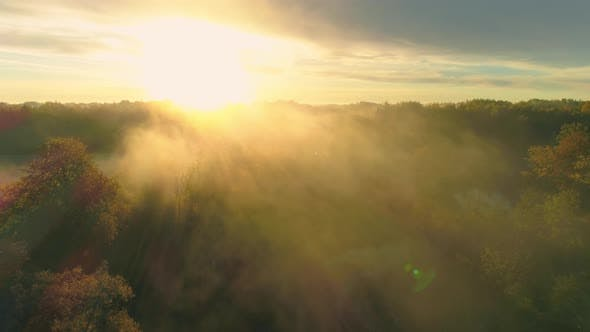 Thumbnail for Early Morning Sunrise Aerial View
