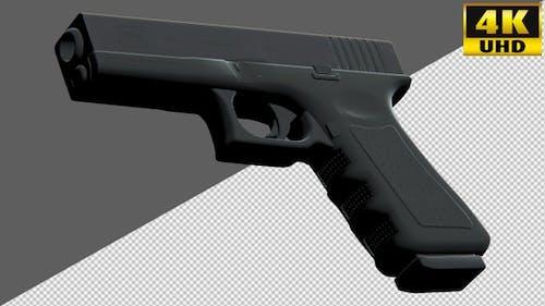 Guns, Pistols, Handguns On Alpha Channel Loops V2