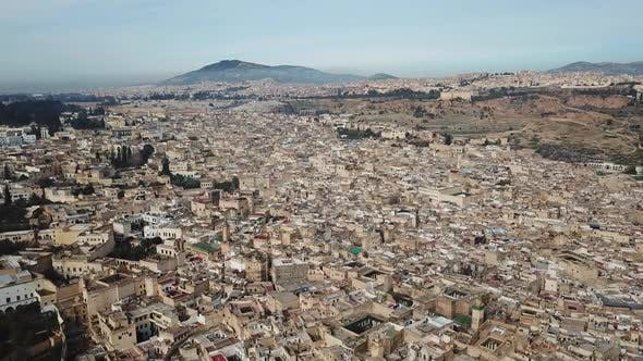 Thumbnail for Aerial View of Old Medina in Fes, Morocco