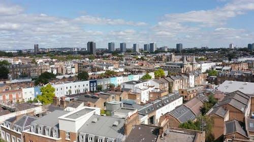Rising Shot of Urban Buildings