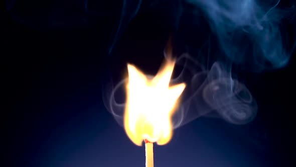 Thumbnail for Burning Match on a Black Background in Slow Motion