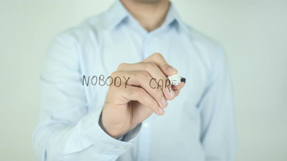 Nobody Cares, Writing On Screen
