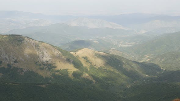 Thumbnail for View from Midzor peak  4K 2160p 30fps UltraHD footage - Nature of Bulgarian side of Stara planina mo