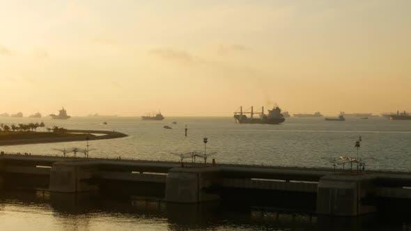 Thumbnail for Dam At Sea Sunset