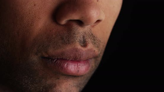 Thumbnail for Close up on African man's lips