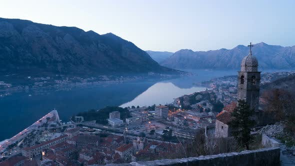 Day To Night Transition Time Lapse in Kotor