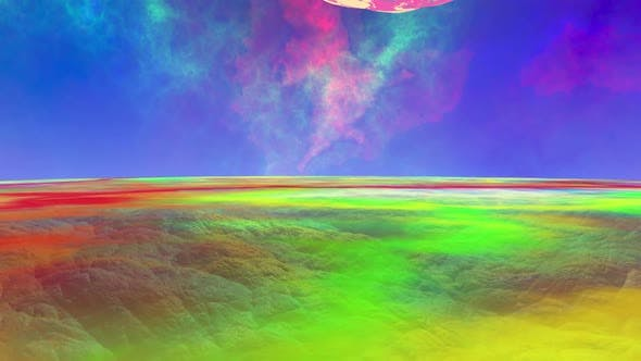 3D rendered Animation of a Alien World