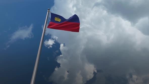 Liechtenstein Flag Waving 2K
