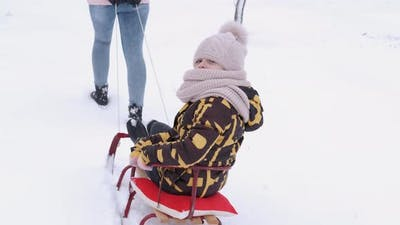 Winter Game with a Sleigh