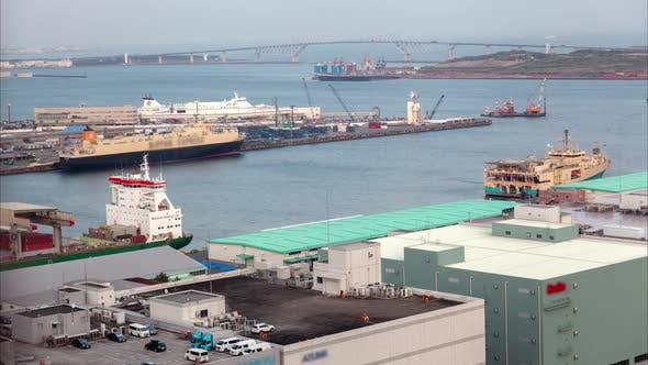 Thumbnail for Container Terminal Bay Seaport Dockland Area Tokyo