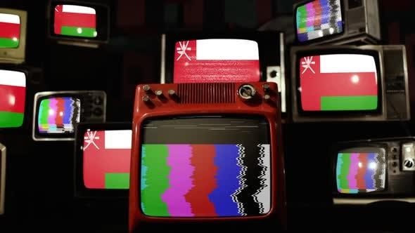 Oman flag on Retro TV Wall.