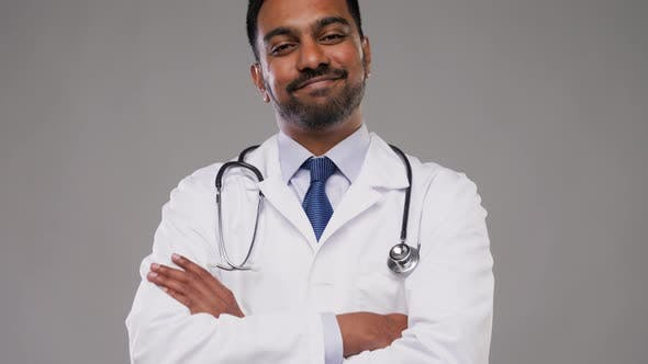 Thumbnail for Smiling Indian Male Doctor with Stethoscope 15