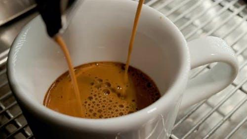 Process of Making Coffee in Espresso Machine